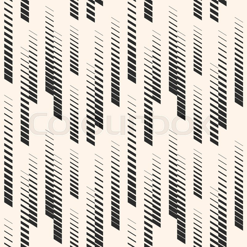 Abstract Graphic Seamless Pattern With Vertical Halftone Lines Classy Urban Pattern