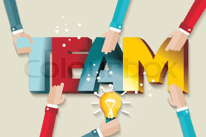 Business Team Template A Symbol Of Teamwork And Trust Stock