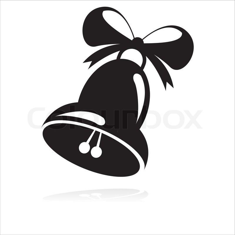 black christmas bell icon stock vector colourbox