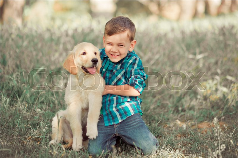 Cute Handsome Boy Teen With Blue Eyes Stock Photo Colourbox