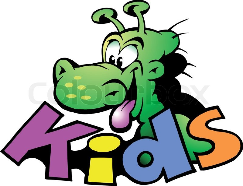 hand drawn vector illustration of an dinosaur kids logo stock vector colourbox
