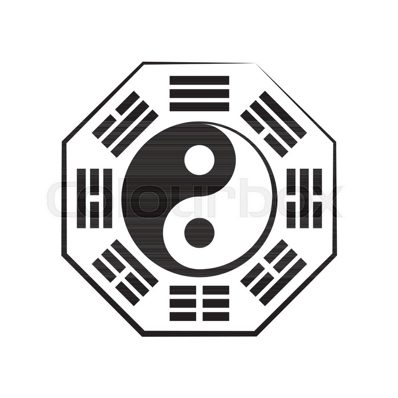 Yin Yang And B Gu 8 Trigrams The Chinese Cosmic Symbol Of