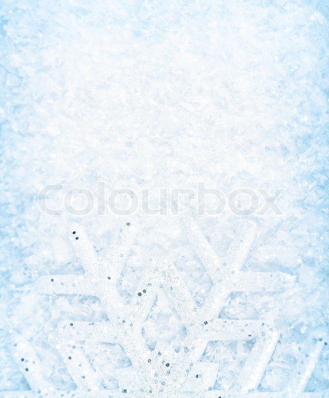 Weihnachten Hintergrund , Schneeflocke Grenze, kaltes Weiß blue snow ...