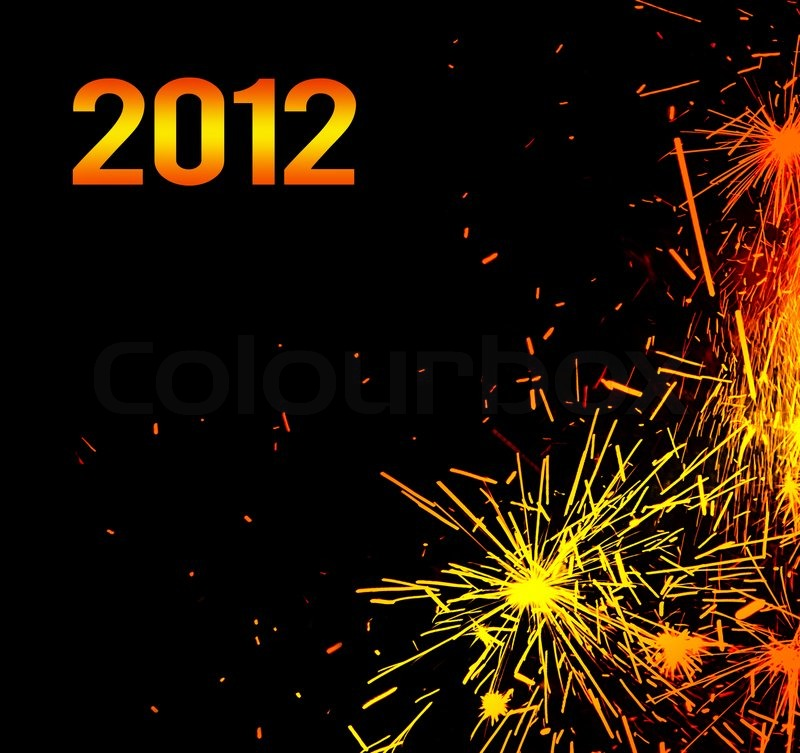 new year eve holiday background with fireworks border colorful sparks isolated on black background with text copy space stock photo colourbox