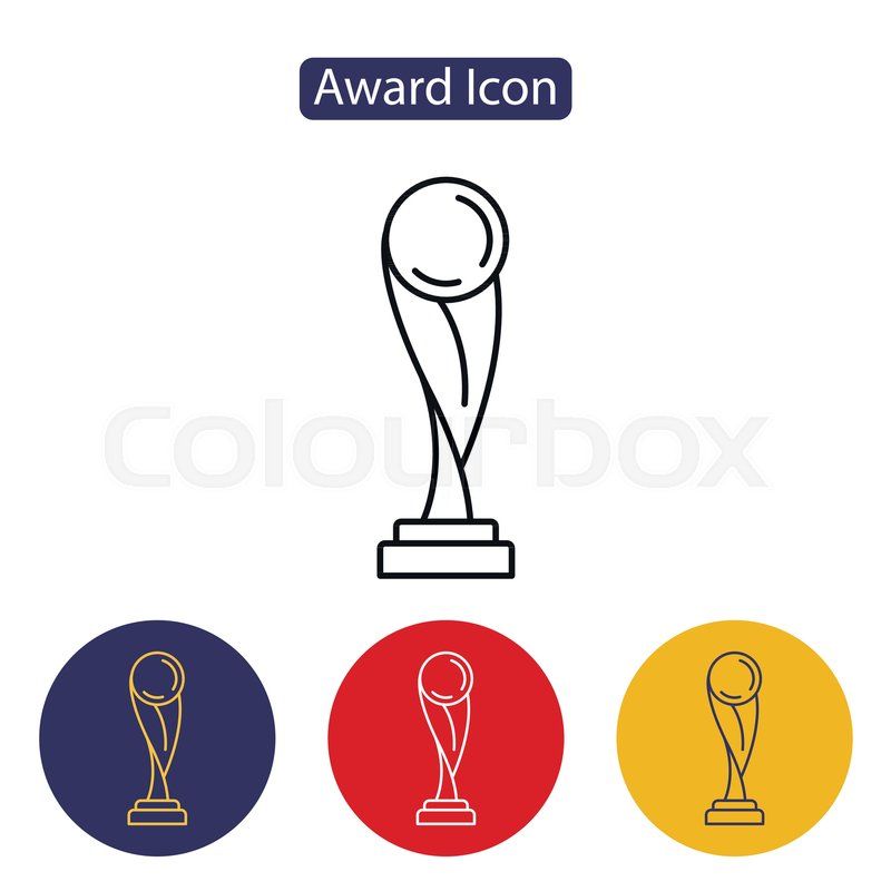 Trophy Icon Isolated On White Background Abstract Soccer Trophy