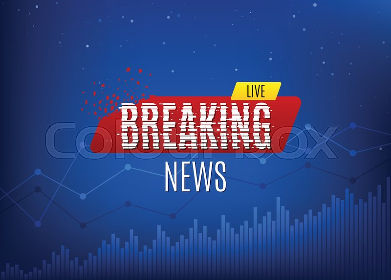 Breaking News Live Banner On Glowing Background Statistics With Charts Or Graphs Business Social Channel Information Glitch Text Effect