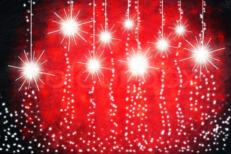 new year garlandson red background illustration stock photo colourbox