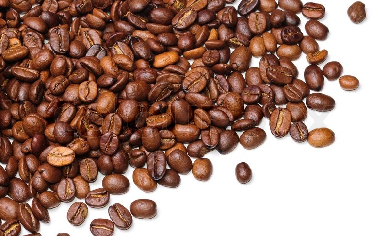 background in the form of a handful of coffee beans on