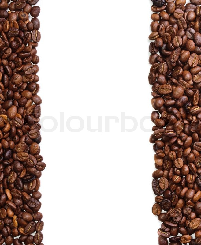 coffee beans background in the form of a handful of coffee
