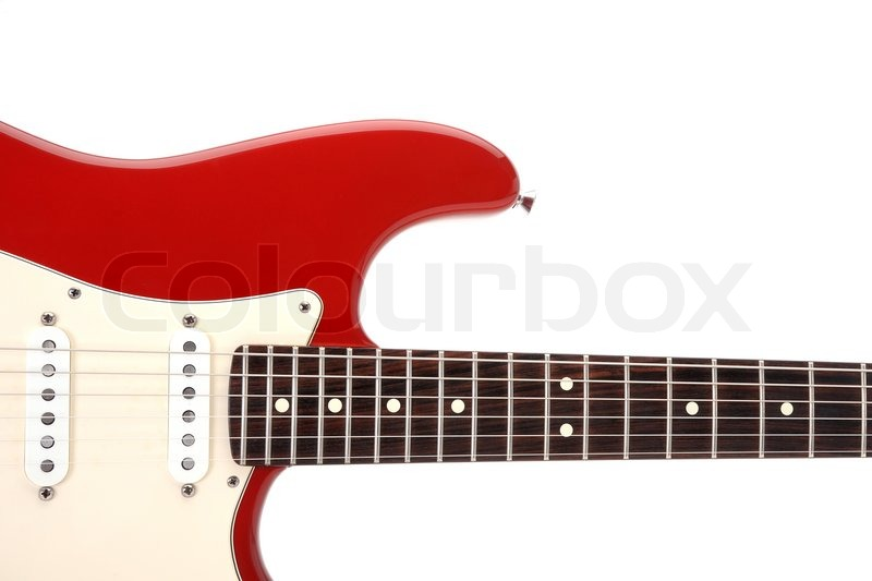 E-Gitarre rot Fender Strat, Stratocaster   Stockfoto   Colourbox