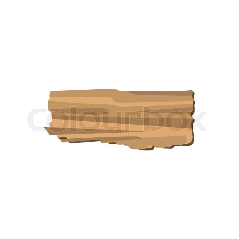 Wood And Wooden Things Manufacturing Organic Material Natural Texture Vector Illustration Of Detailed Cartoon Element In Flat Style