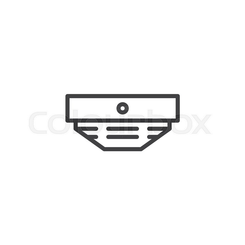 Smoke Detector Line Icon Outline Vector Sign Linear Style