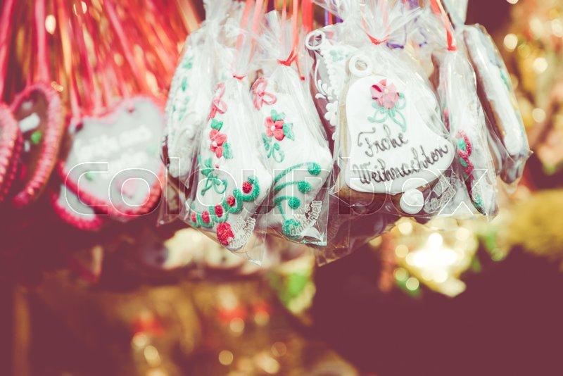 Gingerbread Hearts At German Christmas Stock Image Colourbox