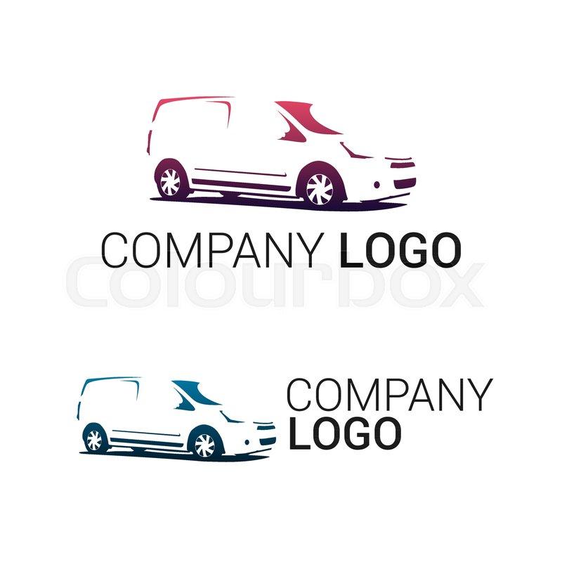 Car repair or delivery service label. Vector logo design template ...