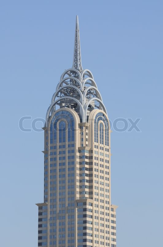 Chrysler Building Copy In Dubai Stock Photo Colourbox