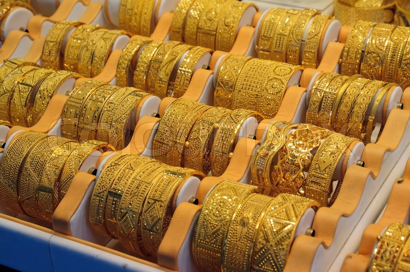 Jewelry At Dubai S Gold Souq Stock Photo Colourbox
