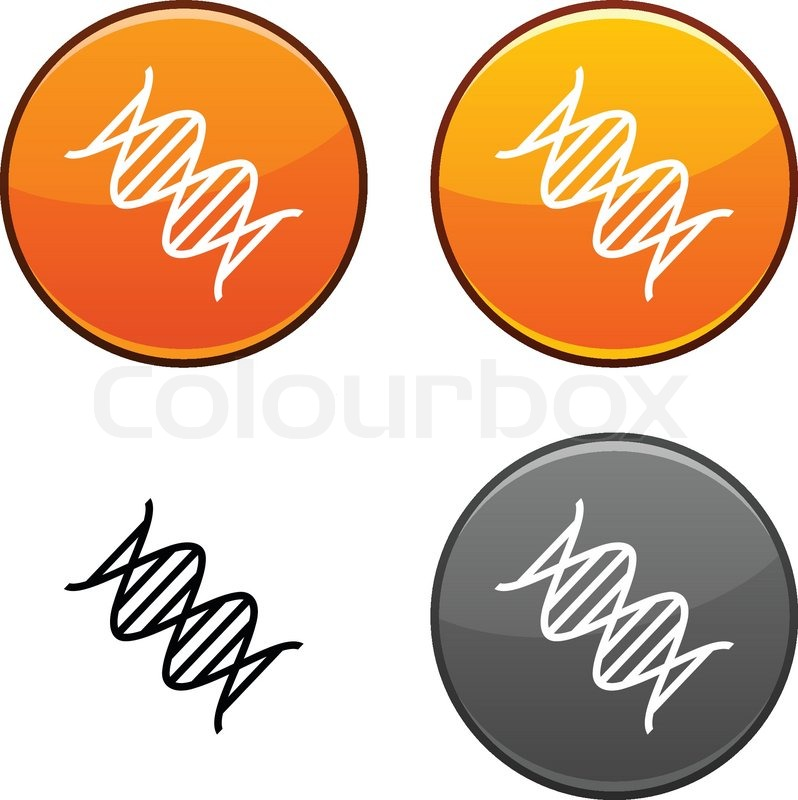 Dna Vector Black Dna Round Buttons Black Icon