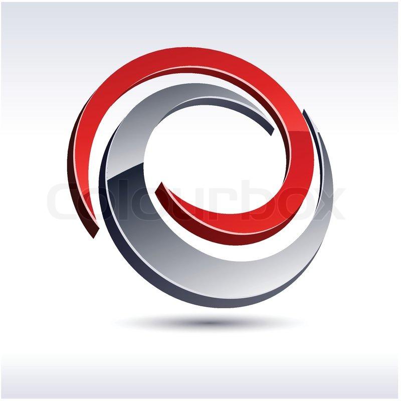 abstract modern 3d swirl logo vector stock vector colourbox