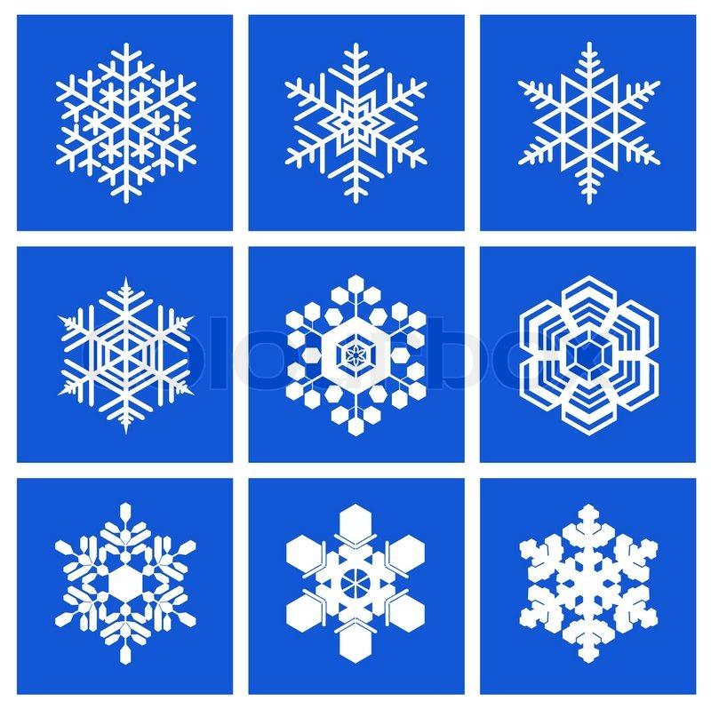 Разновидности снежинок фото