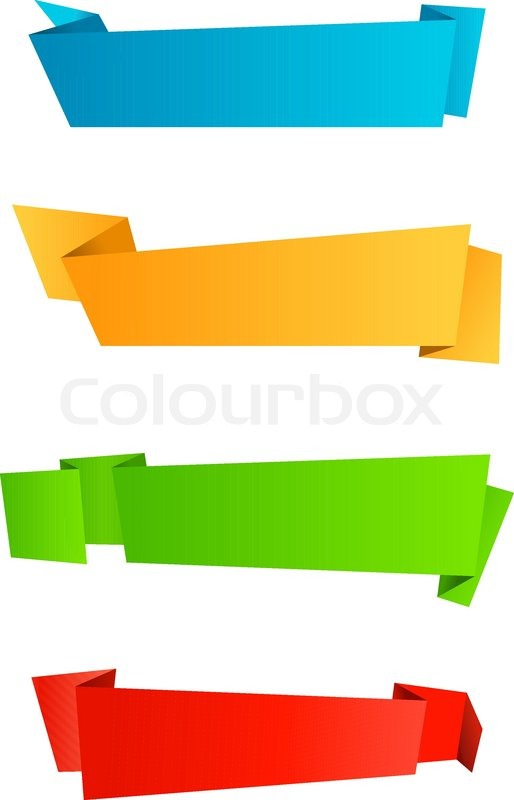 Abstract template banners in origami style for web design ...