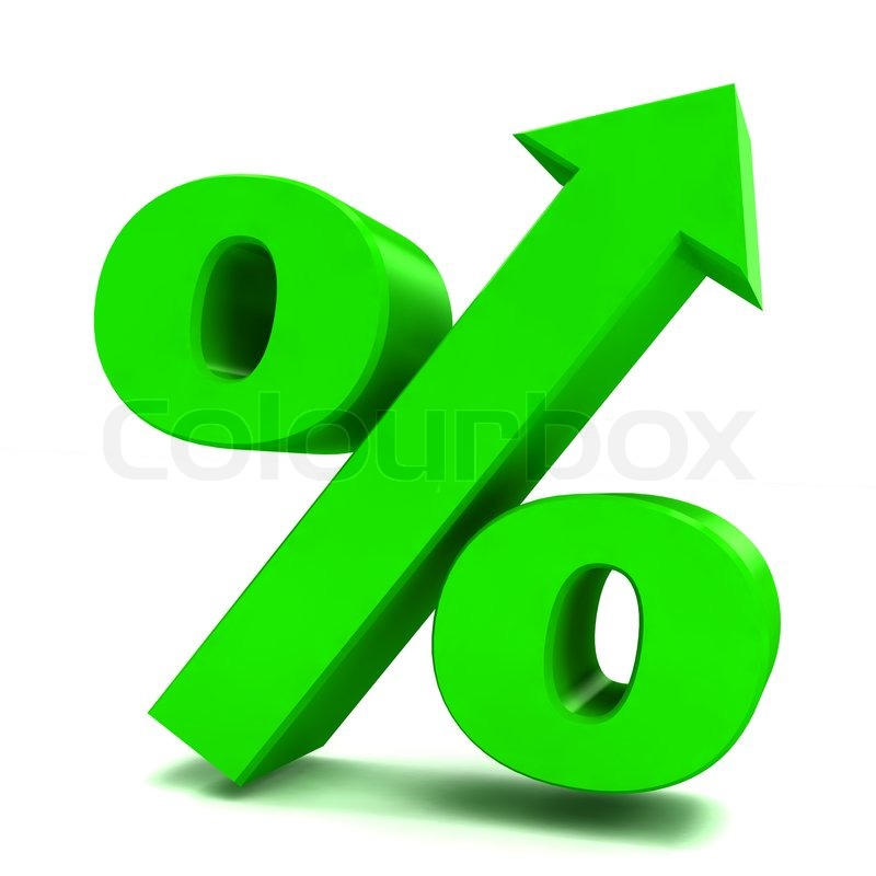 green sign of percent stock photo colourbox