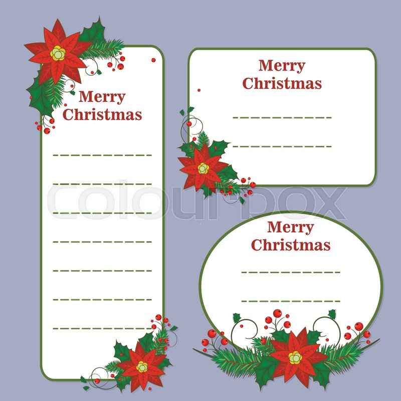 Cute christmas set with cards notes stickers labels tags with cute christmas set with cards notes stickers labels tags with winter christmas illustrations editable vector illustration vector m4hsunfo