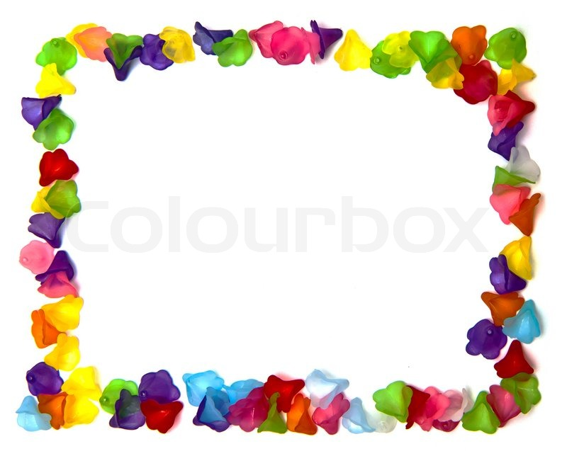 Frame of colorful beads | Stock Photo | Colourbox