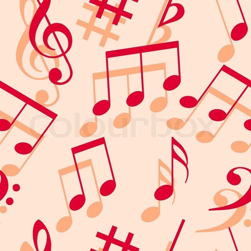 Music Notes Seamless Wallpaper Stock Vector Colourbox