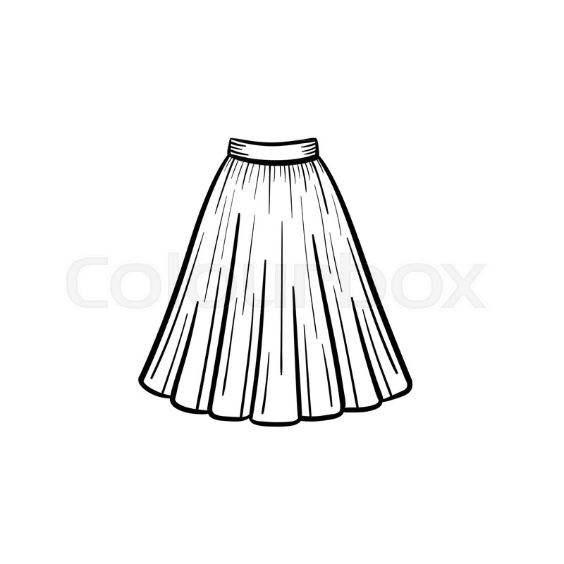 Vector Hand Drawn Dress Outline Doodle Stock Vector