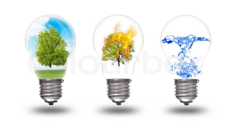 ... and water The concept of renewable energy   Stock Photo   Colourbox