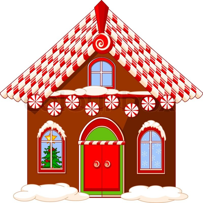 Cartoon gingerbread house gingerbread house and