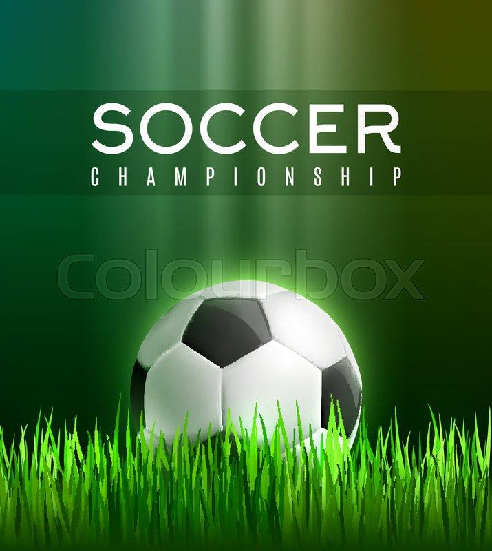 Soccer Sport Championship 3d Poster Stock Vector Colourbox
