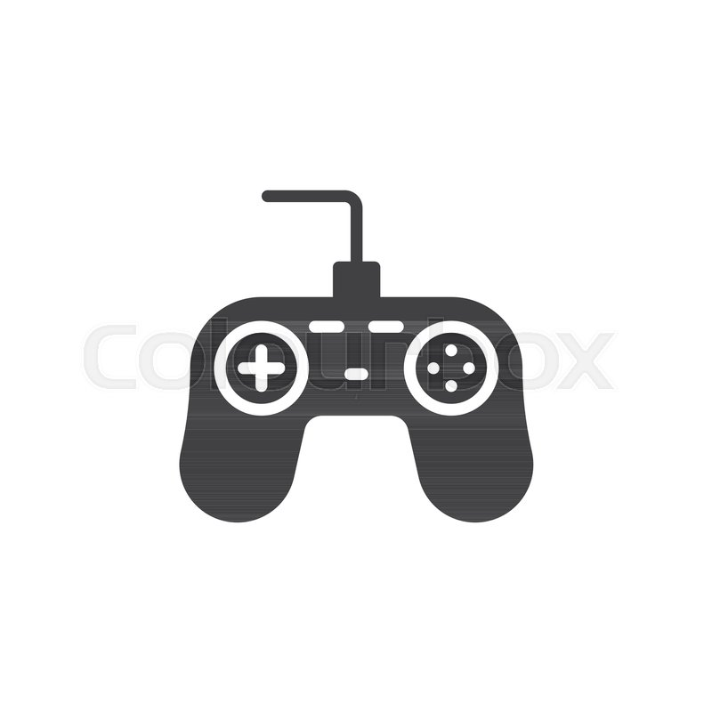 Game Controller Icon Vector Filled Flat Sign Solid Pictogram