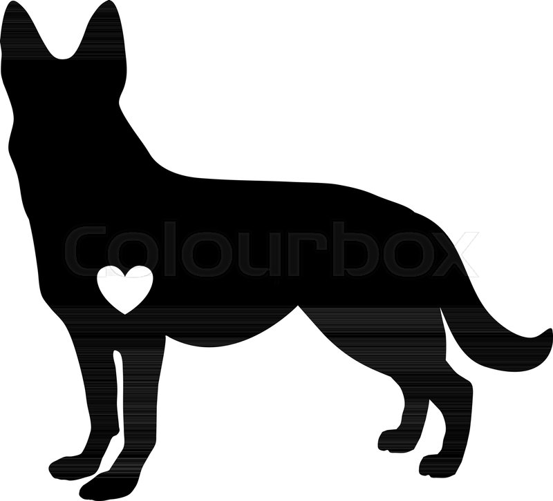 Black Silhouette Of German Shepherd Stock Vector Colourbox Find & download free graphic resources for german shepherd silhouette. black silhouette of german shepherd