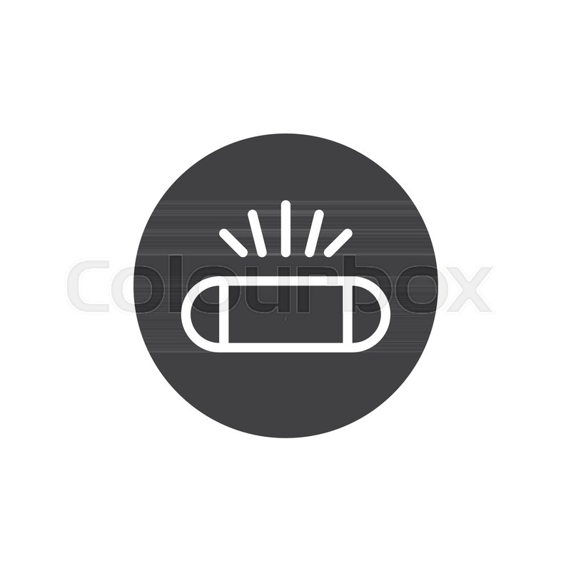 Photo camera flash light icon vector, filled flat sign, solid ...
