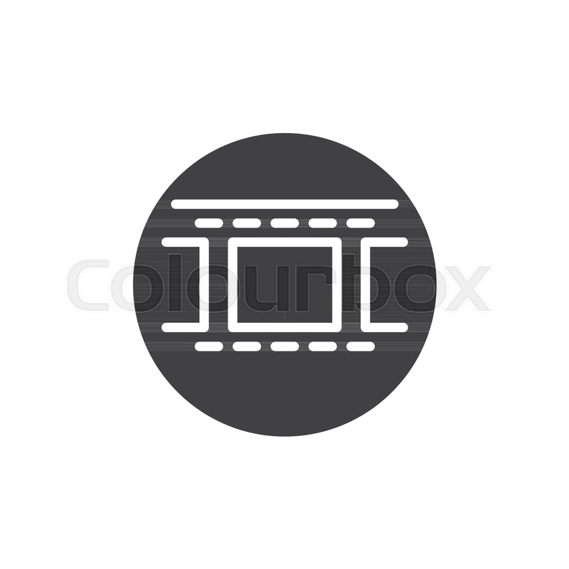 Camera roll film icon vector filled stock vector for Camera film logo