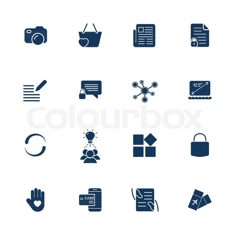 Different Simple Universal Icons For Sites Apps Programs Camera