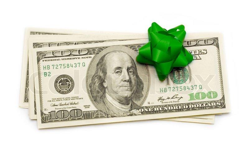 Стих в подарок с долларами