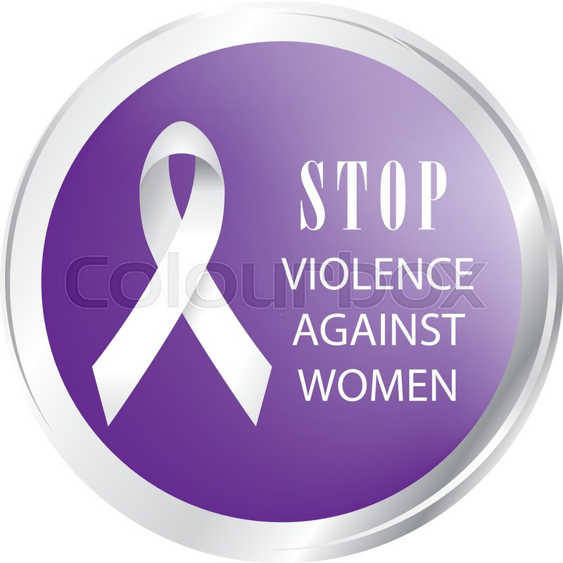 Symbol Of Call To Stop Violence Against Women Stock Vector Colourbox