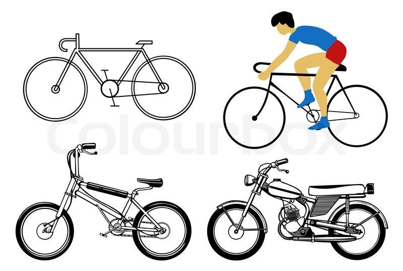 Велосипед картинка нарисованная