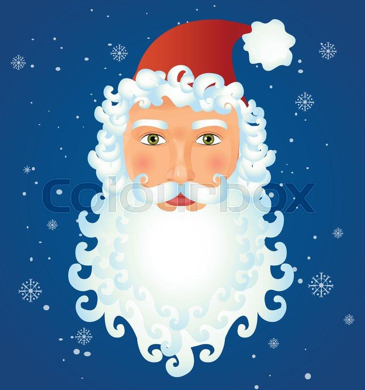 Portrait of happy Santa Claus funny christmas card vector cartoon ...