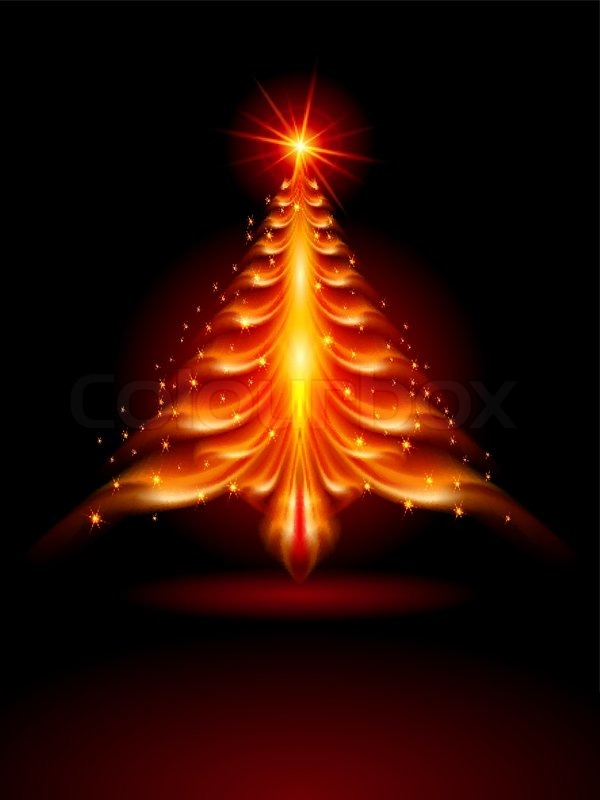 Christmas Tree On Fire.Abstract Fire Christmas Tree Stock Vector Colourbox