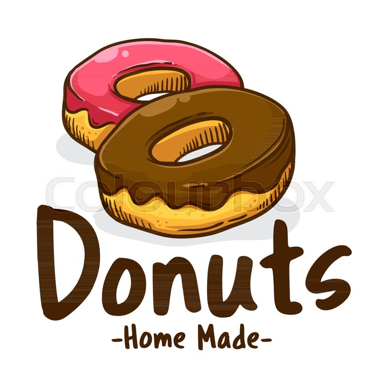 of donut logo  Vector illustration of delicious sweet donuts shop logo icon | Stock ...