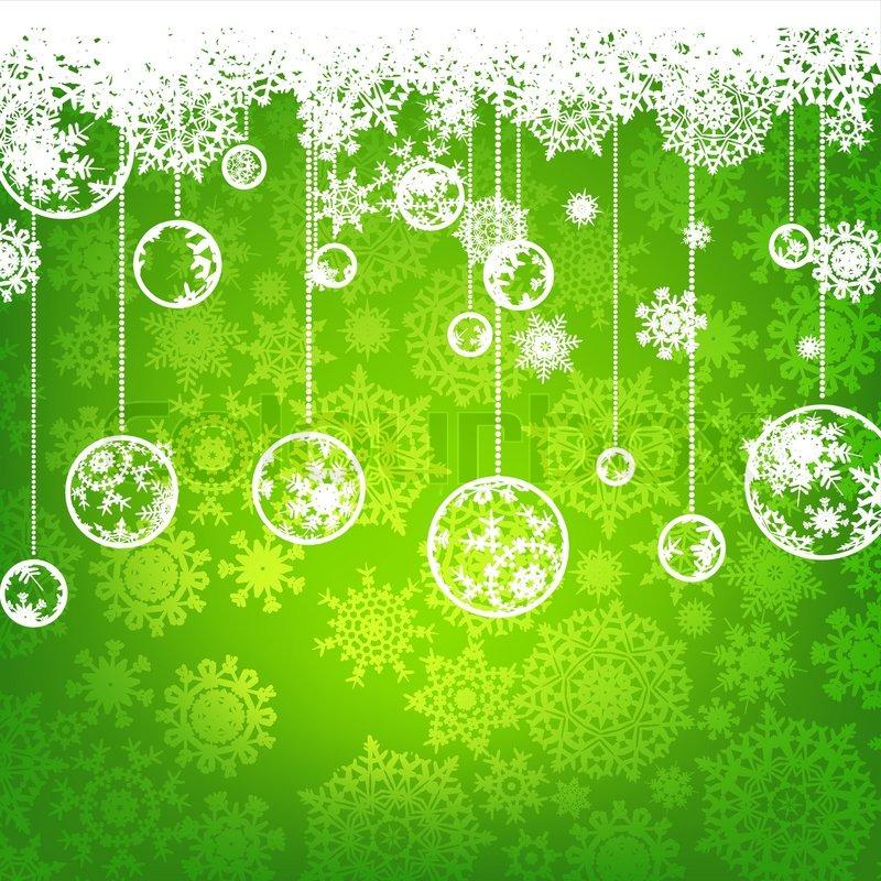 Beautiful Green Happy Christmas Card Winter Holiday