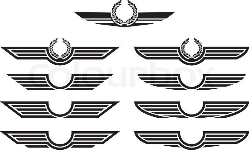 set of insignias stencils vector illustration stock vector rh colourbox com Special Forces Vector Wings Special Forces Vector Wings