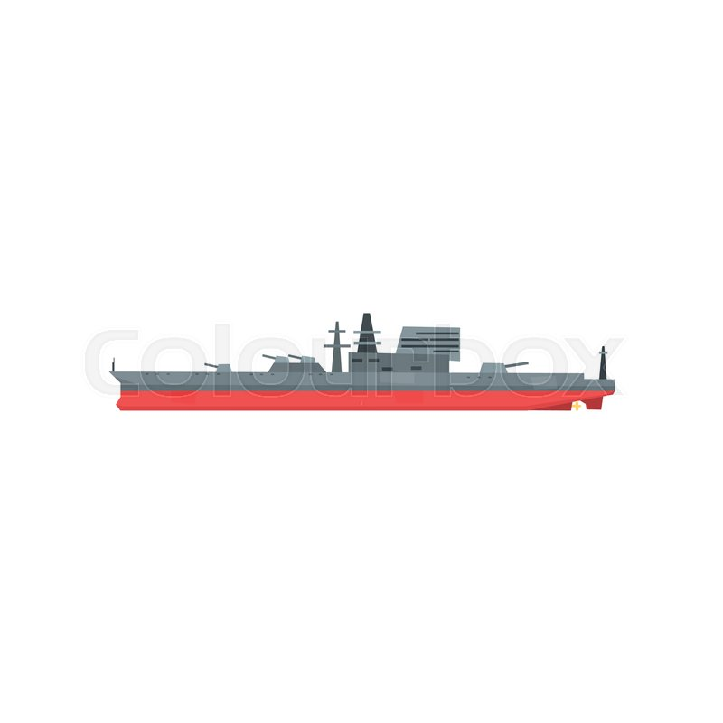 Colored icon of large military tanker      | Stock vector