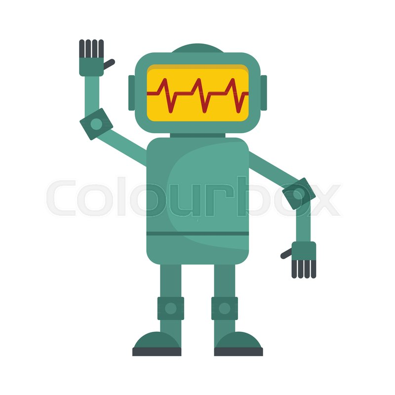 funny green robot vector illustration of cartoon robot for web rh colourbox com robovector laser level parts robot vector southampton