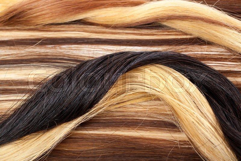 Human Hair European Hair Weft For Hair Extension Brown Blonde Hair