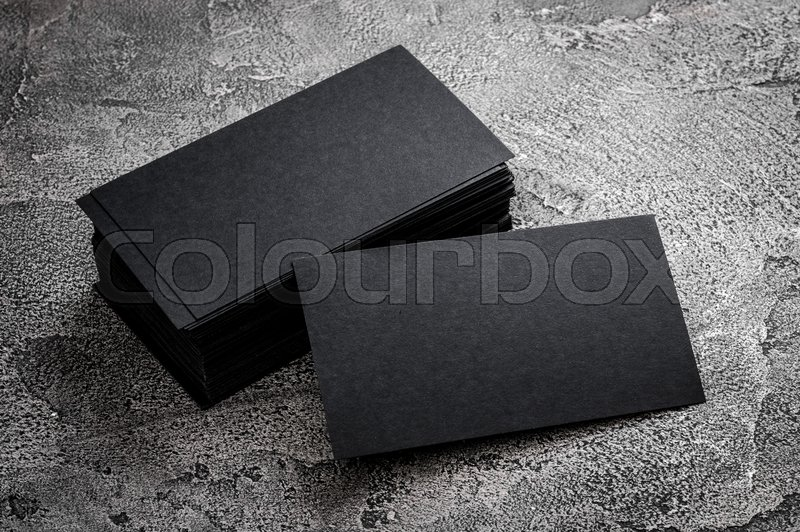 Black paper business card template on grey background blank name black paper business card template on grey background blank name card for text space stock photo colourbox colourmoves