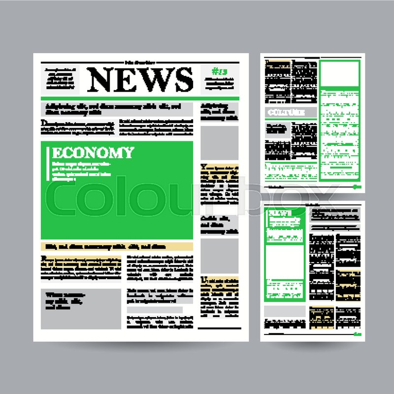 Newspaper Design Template Vector Modern Newspaper Layout Template